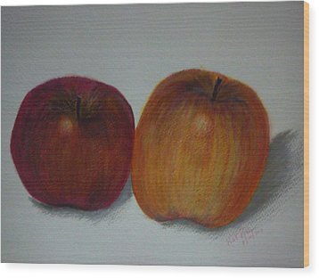 An Apple A Day Wood Print by Kat Poon