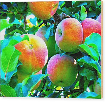 An Apple A Day Wood Print by Kay Gilley