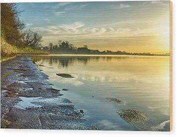 An April Morning On The Estuary  Wood Print by Martina Fagan