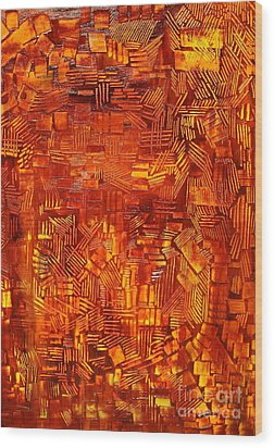 An Autumn Abstraction Wood Print by Michael Kulick