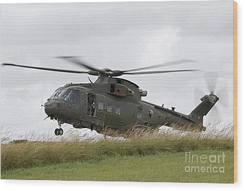 An Aw101 Merlin Helicopter Of The Royal Wood Print by Ofer Zidon