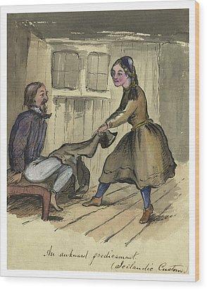 An Awkward Predicament Circa 1862 Wood Print by Aged Pixel
