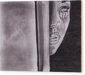 An Emotional Girl Wood Print by Priyanka Patil