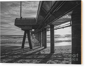 An Evening At Venice Beach Pier Wood Print by Ana V Ramirez