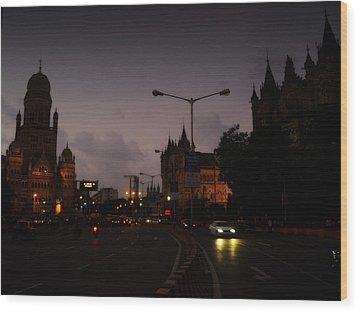 Wood Print featuring the photograph Mumbai by Salman Ravish
