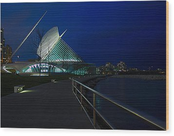 An Evening Stroll At The Calatrava Wood Print