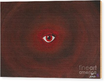 An Eye Is Upon You Wood Print by Stefanie Forck