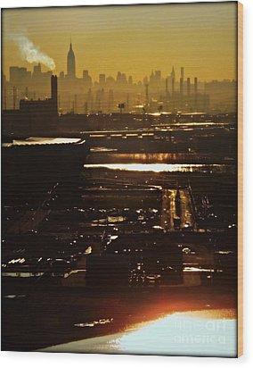 An Imposing Skyline Wood Print by James Aiken