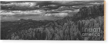 An Incoming Storm Over The Black Hills Of South Dakota Wood Print