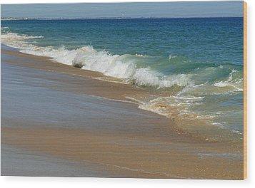 An Ocean View  Wood Print by Neal Eslinger