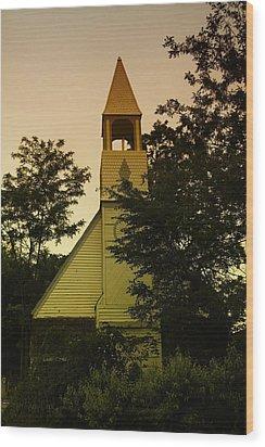 An Old Church Near Moxee Wa Wood Print by Jeff Swan