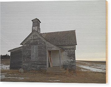 An Old Church On The Prairie  Wood Print by Jeff Swan