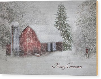 An Old Fashioned Merry Christmas Wood Print by Lori Deiter