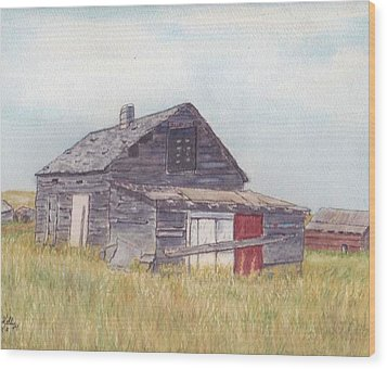 An Old Memory Home In The Grand Prairies Wood Print
