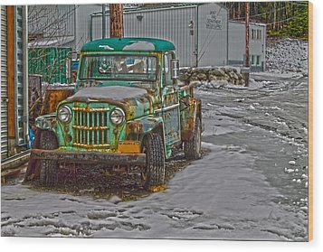 Wood Print featuring the photograph An Old Truck by Timothy Latta