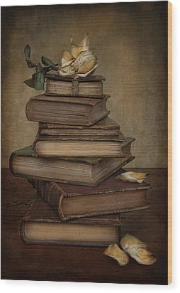 Analects Of Wisdom Wood Print by Robin-Lee Vieira