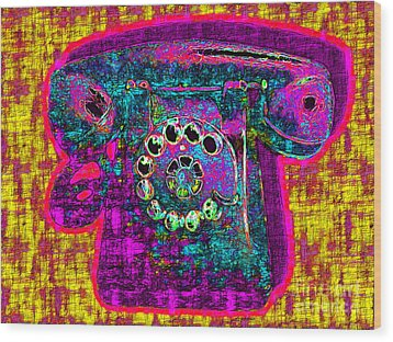 Analog A-phone - 2013-0121 - V1 Wood Print by Wingsdomain Art and Photography