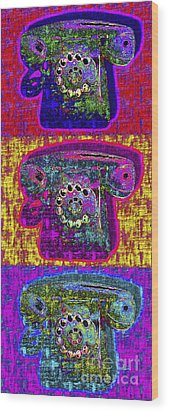 Analog A-phone Three - 2013-0121 Wood Print by Wingsdomain Art and Photography