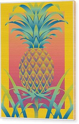 Ananas Wood Print