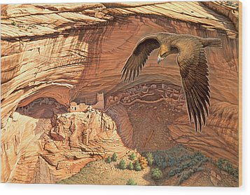 Anasazi - Ancient Ones Wood Print by Paul Krapf