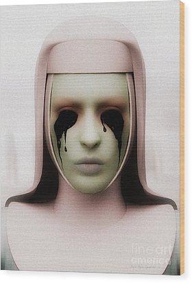 Wood Print featuring the digital art Anathema by Sandra Bauser Digital Art