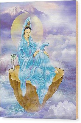 Anavatapta Kuan Yin Wood Print by Lanjee Chee