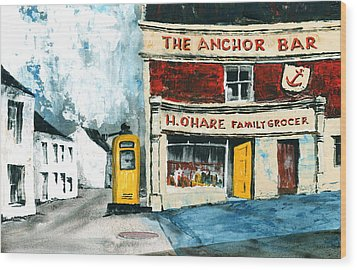 Anchor Bar  Carlingford  Louth Wood Print