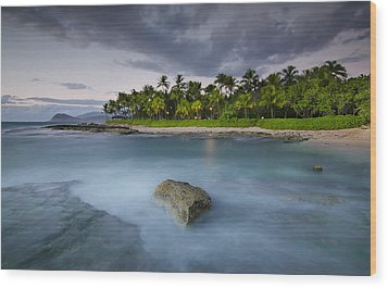 Anchor Of The Sea At Koolina Wood Print