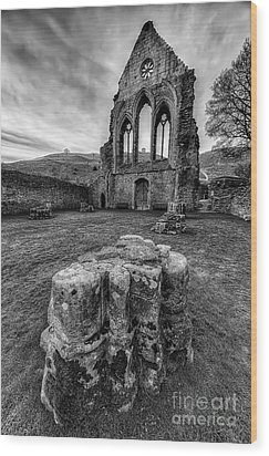 Ancient Abbey Wood Print by Adrian Evans