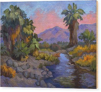 Ancient Cahuilla Fish Traps Wood Print by Diane McClary
