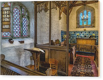 Ancient Chapel 2 Wood Print by Adrian Evans