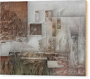 Ancient City 1 Wood Print by David Hansen