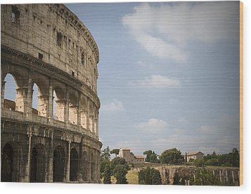 Ancient Colosseum Wood Print