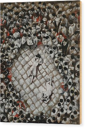 Ancient Dancers Of The Tarantula Dance Wood Print by Alessandra Andrisani