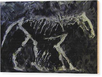 Ancient Dog Skeleton Wood Print by Jim Vance