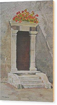 Ancient  Doorway  Wood Print