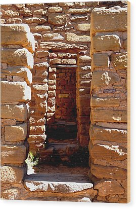 Wood Print featuring the photograph Ancient Doorways by Alan Socolik
