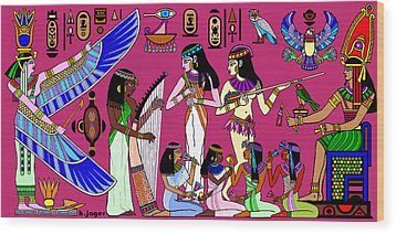 Wood Print featuring the painting Ancient Egypt Splendor by Hartmut Jager