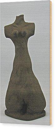 Ancient Goddess Wood Print by Mario Perron