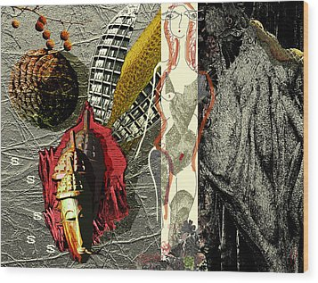 Ancient History Wood Print by Maria Jesus Hernandez