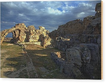 Ancient Landscape North Cyprus Wood Print by Jim Vance