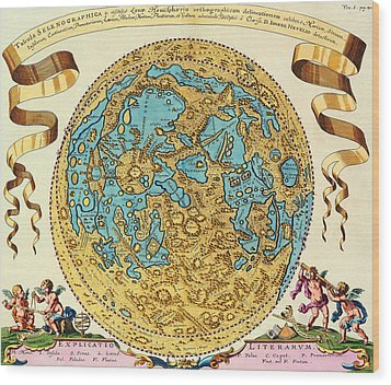 Ancient Map Of The World Wood Print by Gianfranco Weiss