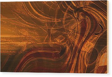 Wood Print featuring the digital art Ancient by Richard Thomas