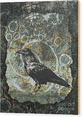 Ancient Spirals Wood Print by Judy Wood