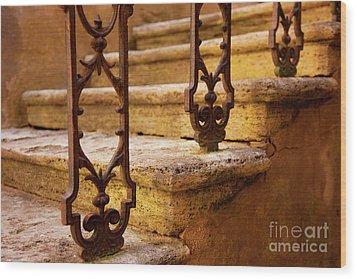 Ancient Steps Wood Print