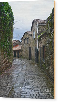 Ancient Street In Tui Wood Print