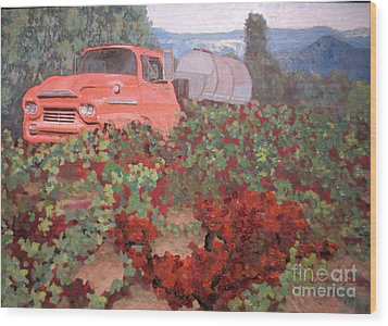 Ancient Truck Wood Print by Donna Schaffer