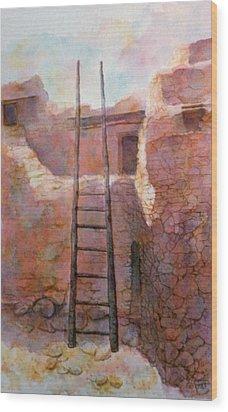 Ancient Walls Wood Print by Ann Peck
