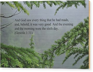 And God Saw Wood Print by Tikvah's Hope