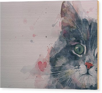 And I Love Her Wood Print by Paul Lovering